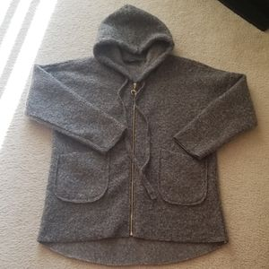 Bay Made in Italy Vegan Hooded Sweater Jacket